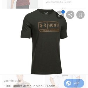 Nwt Under Armour olive tan hunt tshirt top S